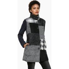 Desigual kabát Rosita 17WWEW29 Černo-Bílá
