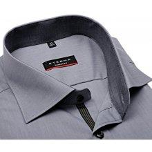d53be07fbc3 Eterna Modern Fit Chambray – šedá košile s antracitovým vnitřním límcem