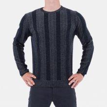 Armani Collezioni Luxusní pánský svetr šedomodrý