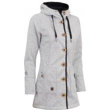 Woox Kabát dámský Woolshell Ladies' Button Grey
