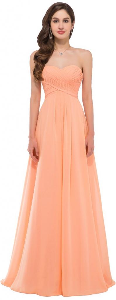 58eb634df54 Plesové šaty Grace Karin společenské šaty dlouhé CL3409 oranžová ...