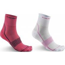 Craft ponožky Cool Training 2-pack růžová bílá