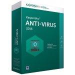 Kaspersky Anti-Virus 2016 1 lic. 1 rok nová licence (KL1171OCAFS)