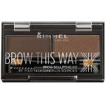 Rimmel Brow This Way Scuplting Kit 3 Dark Brown 2,4 g