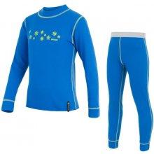 SENSOR DOUBLE FACE dětský komplet triko + spodky vločky modrá
