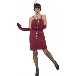 0903d88ac65 Karnevalový kostým Flapper krátké vínové