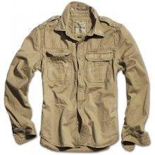 Raw Vintage pánská košile s dlouhým rukávem Khaki