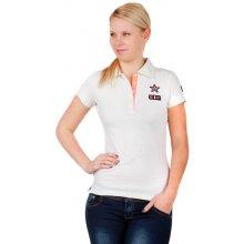 YooY Dámské triko s límečkem bílá 21ed86641e