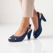 Blancheporte Sandály v semišovém vzhledu nám.modrá
