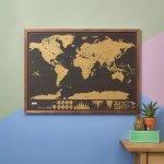 Luckies Nástěnná stírací mapa světa Deluxe velká