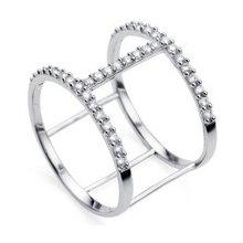 ac91946fb Oliver Weber Stříbrný prsten s krystaly Swarovski Ring Tunnel 63230