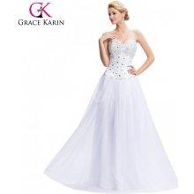 0f1d43dbdec7 Grace Karin společenské šaty na věneček CL3519-1 Bílá