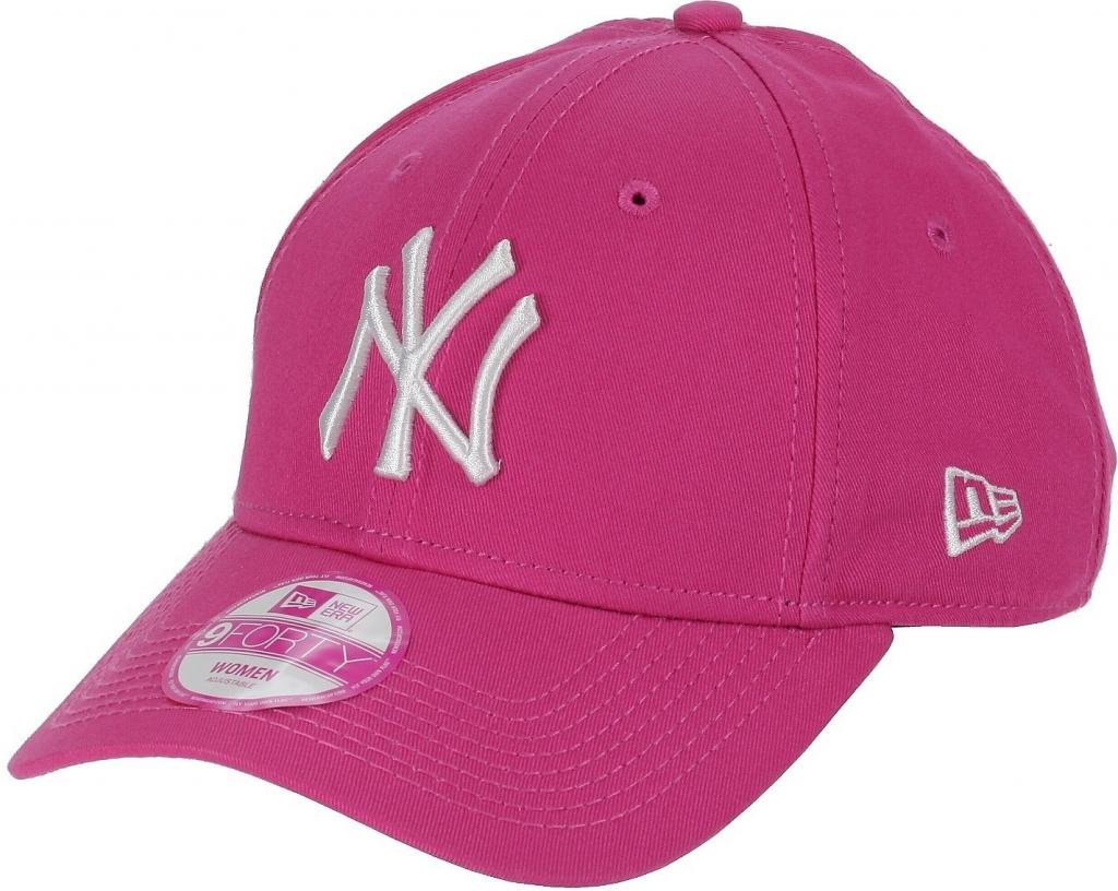 New Era Fashion Essential New York Yankees Pink White 9FORTY Strapback  růžová   bílá   23b82a0899