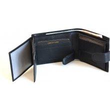 Valentini Pánská peněženka na šířku kožená dokladová zapínací SV00 306562 09KUZ černá