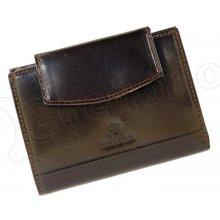 Emporio Valentini 563 PL08 tmavě dámská kožená peněženka hnědá