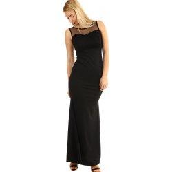 Dlouhé plesové šaty s krajkovým vrškem 290359 černá od 1 610 Kč ... d64f07908d