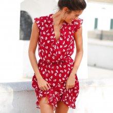 76db820ae78 Blancheporte volánové šaty s potiskem bílá černá červená