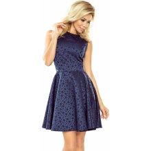 Numoco dámské šaty Helena bublinky modrá c90cdb6f33