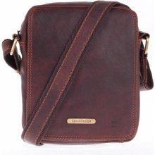 77bbb15189 Sendi Design pánská kožená taška 52005 koňakově hnědá