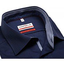 Marvelis Modern Fit – tmavomodrá košile s vnitřním límcem a légou efe20e53cc