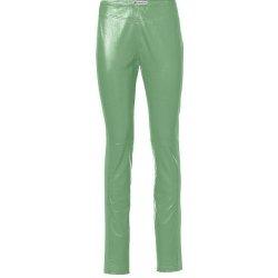 c0c41f504a9 Rick Cardona návrhářské dámské kožené legíny zelené alternativy ...