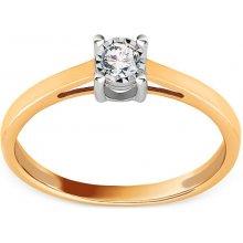 177c2e421 iZlato Forever Zlatý zásnubní prsten s diamantem 0,090 ct Clara KU615