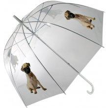 DecoDoma Dámský deštník průhledný Mopsík