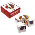 Topa Kostky kubus Čtyřkostka 4 ks v krabičce BABY dřevěná hračka