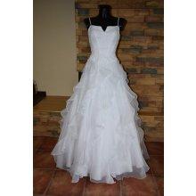 nové luxusní svatební šaty, šaty na věneček, na kolonu, závěrečnou