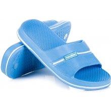 Pohodlné modré dětské gumové nazouváky