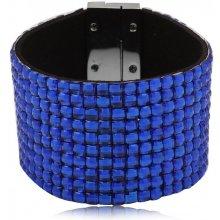 Shine bižuterní třpytivý barevný náramek modrý TN018