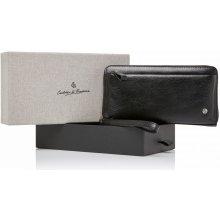 Castelijn & Beerens Dámská kožená peněženka RFID v dárkové krabičce 805518 ZW černá