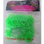 Loom bands gumičky na náramky zelené