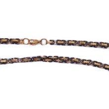 2b0b5bea7 náramek.ocel Královská vazba černo zlatý OCRET230150