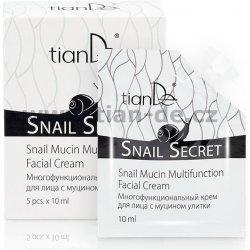 tianDe Snail Secret vícefunkční krém na obličej s mucinem hlemýžďů 5 x 10 ml