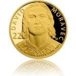 Česká mincovna Zlatá čtvrtuncová mince Legendy čs. hokeje David Moravec proof 7,78 g