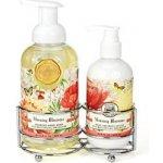 Michel Design Works Morning Blossoms Hydratační pěnící tekuté mýdlo na ruce 530 ml + Hydratační mléko na ruce a tělo 236 ml dárková sada