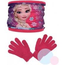 nákrčník a rukavice Frozen hq 4000 malinový
