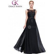 Grace Karin společenské šaty dlouhé CL007555-3 černá 376f955ed3