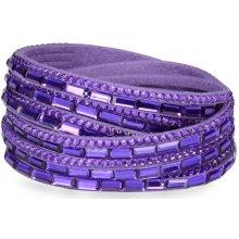 Troli náramek Wrap 6x Double Dark Purple