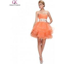 Grace Karin koktejlové šaty na ples CL4973 oranžová alternativy ... c35c20e05b6