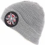 INDEPENDENT Thrasher Pentagram Cross Beanie Long Shoreman Hat Heather Grey 5f78c299a2