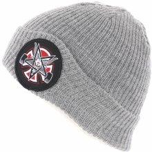 0429f23264a INDEPENDENT Thrasher Pentagram Cross Beanie Long Shoreman Hat Heather Grey