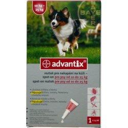Antiparazitika BAYER Advantix Spot on pro psy 10-25kg 1x2,5ml