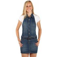 26a6c743a7 YooY dámské riflové šaty za krk 68883 modrá