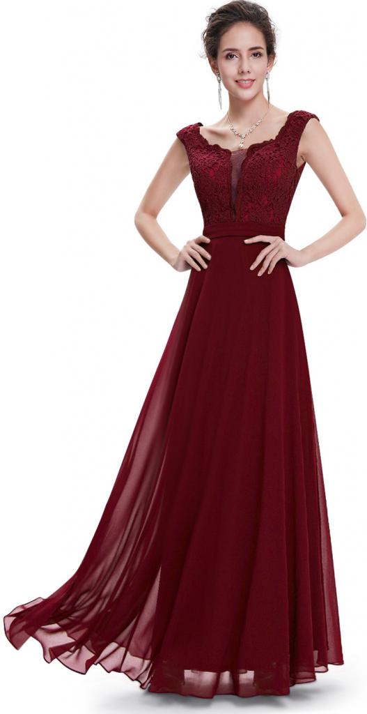 b047234185d Plesové šaty Ever Pretty plesové a společenské šaty 61EV bordó ...