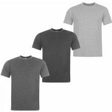 Donnay 3 Pack T Shirts Mens GreyM/CharM/Blk