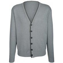 Roger Kent Pletený svetr šedá melanž