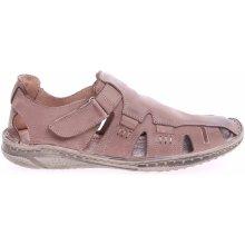Pánské sandály EF216 MST hnědé hnědá hnědá