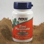 Now Zinc Picolinate zinek pikolinát 50 mg x 60 rostlinných kapslí